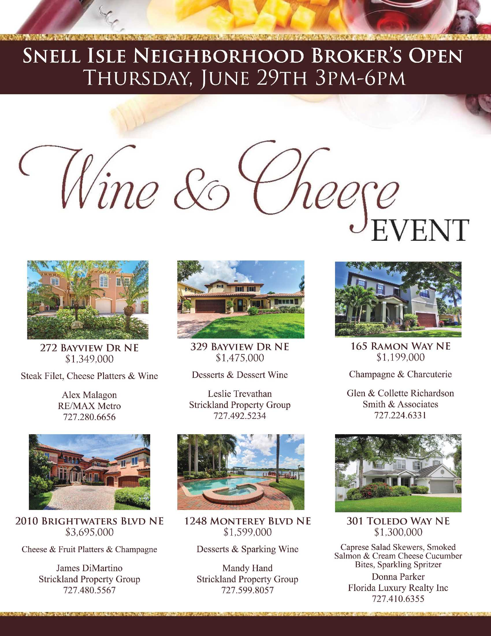 Brokers Open Thursday June 29th