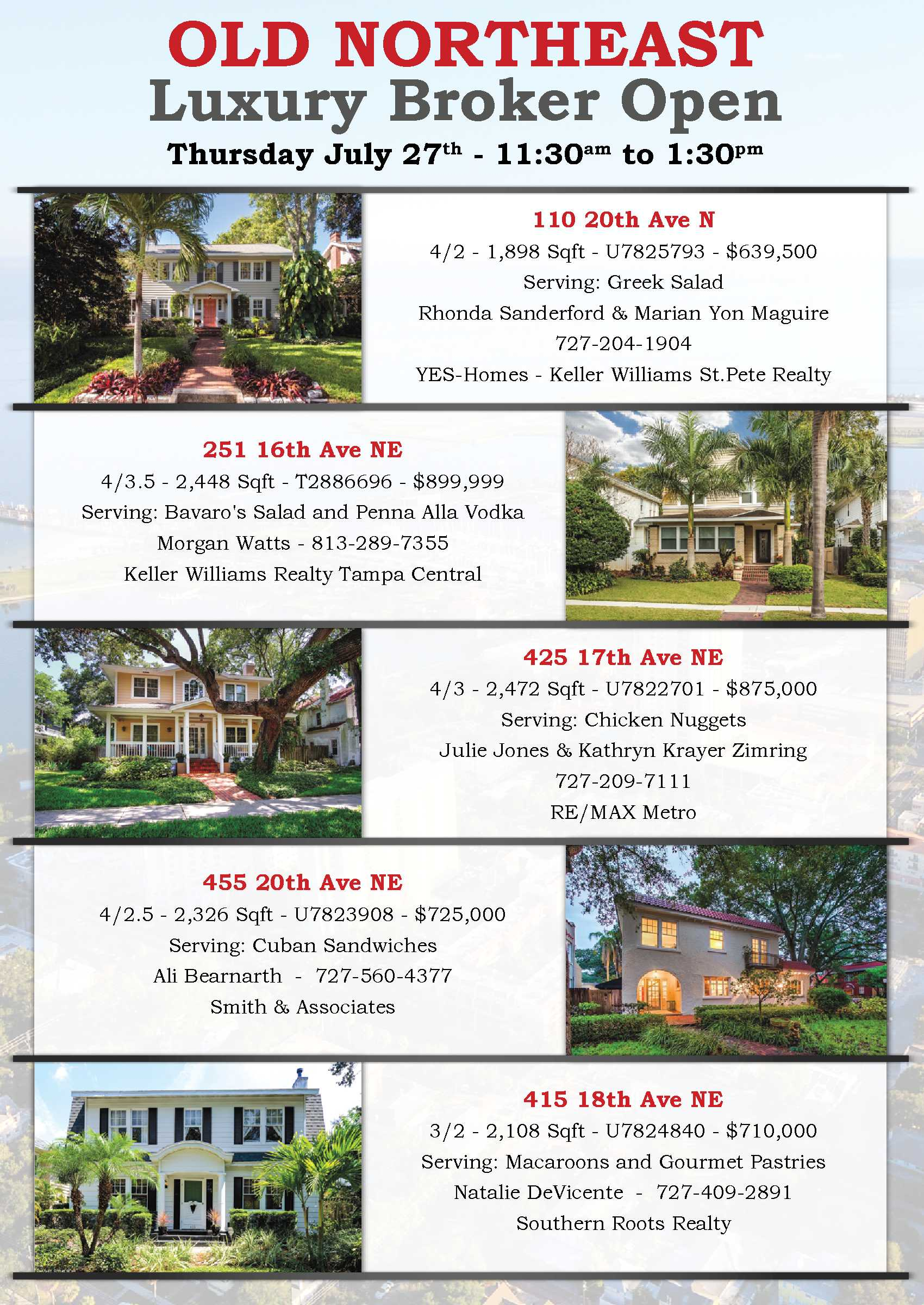 Brokers Open Thursday July 27th
